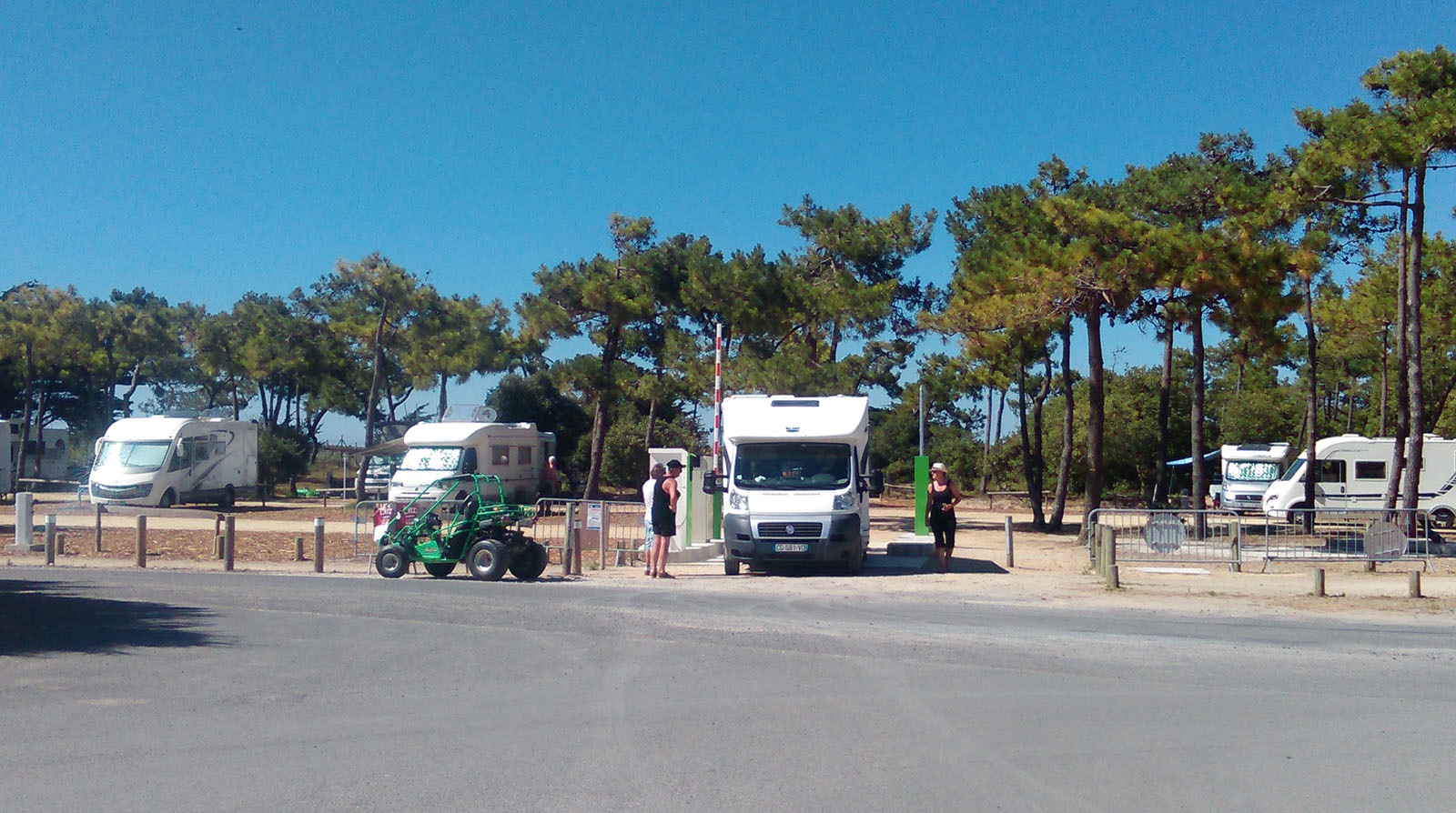 Motor home stopover areas-labarredemonts-vendee
